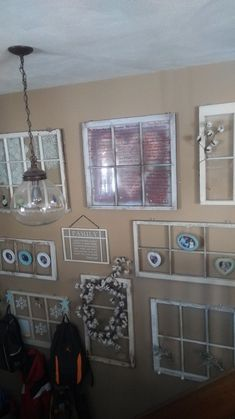 My Shabby Chic Window Wall Shabby Chic Porch, Shabby Chic Kitchen Decor, Shabby Chic Bedrooms, Vintage Shabby Chic, Shabby Chic Homes, Shabby Chic Style, Chic Bathrooms, Window Wall, Window Frames