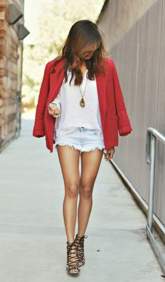 Style Transition: Cut-off Denim Shorts... cut-offs from summer to fall