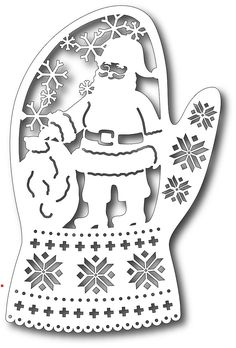 Tutti Designs - Cutting Die - Santa in Mitten,$12.49