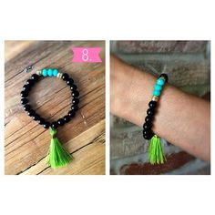 Here is a brand new #8!  Turquoise sparkle with green tassel $12 + $3.50 shipping  Want this item?! Here's what to do:  1. Email me at bearxco@gmail.com or direct message me with your email, mailing address, and  what item number you want.  2. I'll email you a Square invoice (don't worry, you don't need Square to check out!). 3. Click the link in the invoice to pay with credit card or debit.  4. Once your payment is received, your item will ship!  P. S. Please be aware that it may take up to…