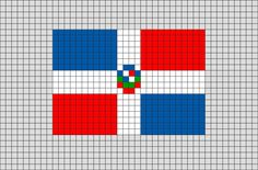 Flag of Dominican Republic Pixel Art from BrikBook.com #DominicanRepublic #FlagofDominicanRepublic #SantoDomingo #Dominican #pixel #pixelart #8bit Shop more designs at http://www.brikbook.com