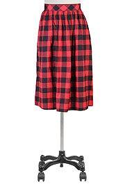 Cotton twill plaid midi skirt Get Super Saving discounts at eShakti with Coupon and Promo Codes.