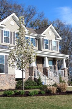 Stone and siding house