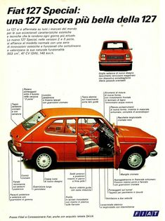 Classic Motors, Classic Cars, Car Advertising, Ads, Fiat 128, Fiat Abarth, Cars And Motorcycles, Cars For Sale, Automobile