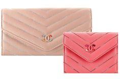 Chanel Multicolor-Chevron Flap Wallets