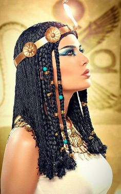 22 best images about Ancient Egyptian hairstyles on . Cleopatra Makeup, Egyptian Makeup, Egyptian Party, Cleopatra Costume, Egyptian Costume, Queen Cleopatra, Cleopatra Halloween, Egyptian Queen, Egyptian Goddess