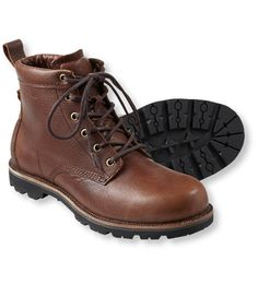 These rugged, water-resistant boots offer modern-day comfort and rustic style that instantly adds character to any outfit. Expertly crafted using rich leather that gets better with age and a lugged outsole for no-nonsense traction and support. Imported.