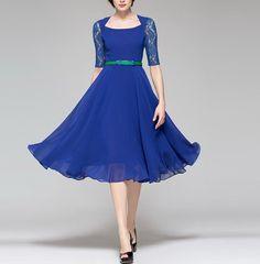 Spring summer chiffon dress lady women clothing gown dress (BSG205)