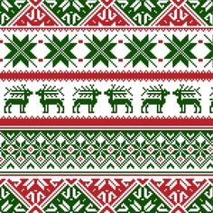 Illustration of Norway Christmas seamless background vector art, clipart and stock vectors. Cross Stitch Borders, Cross Stitching, Cross Stitch Patterns, Knitting Charts, Knitting Stitches, Blackwork, Norway Christmas, Fair Isle Chart, Norwegian Knitting
