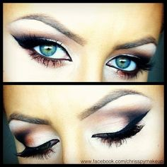 blue color eyes and glamorous makeup. check here for interesting information: http://www.facefitnesscenter.net/pinterest