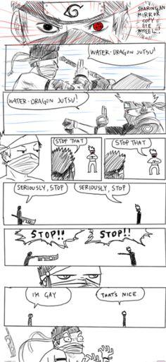 Hahahahahha! Kakashi trolling Zabuza! =))