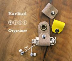 Make your own earbud holder