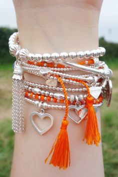 ORANGE TASSELS FOR FESTIVAL SEASON