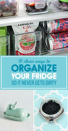 18 simple tricks on how your fridge never gets dirty - Home Cleaning Hacks Fridge Organization, Home Organisation, Organization Hacks, Household Organization, Organize Your Life, Organizing Your Home, Organizing Tips, Organising, Cleaning Solutions