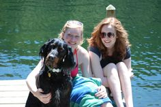 Duff in the Adirondacks hangin' on the dock with his girls, July, 2013.