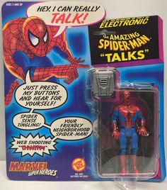 This just in at The Angry Spider Vintage Toy Store: TAS037934 - 1991 ...  Check it out here! http://theangryspider.com/products/tas037934-1991-toy-biz-electronic-the-amazing-spider-man-talks?utm_campaign=social_autopilot&utm_source=pin&utm_medium=pin
