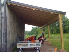 A lean-to is normally attached to a building (bard, shed ...