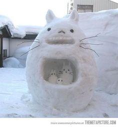 Totoro en bonhomme de neige