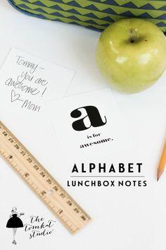 Back School Alphabet Note Printables | via The TomKat Studio