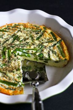 Asparagus and Feta Cheese Crustless Quiche…An easy and healthy ...