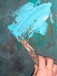 """Karen.....cold wax painting....adding this to my """"must try"""" list! Very ..."""