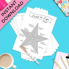 Level 10 Life Bullet Journal Printable Bundle Miracle Morning. Printable planner, printable planner pages, printable planner stickers, printable planner 2020, printable planner pages. #bujo #printableplanner #planner Bullet Journal Inspiration, Journal Ideas, Printable Planner, Planner Stickers, Bullet Journal For Beginners, Planner Sheets, Perfect Planner, Personal Planners, Journal Template