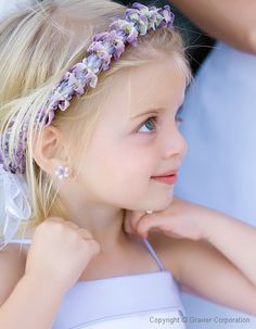 Pale lavender flower girl accents