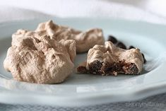 Chocolate Chip Clouds Recipe Desserts with egg whites, cream of tartar, sugar, vanilla extract, unsweetened cocoa powder, chocolate chips