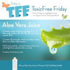 ToxicFree Friday: Aloe Vera Juice #HealthyHome