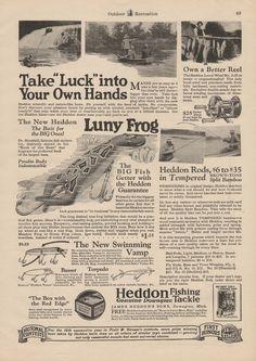 1927 Heddon Luny Frog ad.