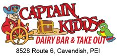 Mmmm summer ice cream in Cavendish at Captain Kidds Dairy Bar! Lobster And Burger, Cavendish Beach, Take Out Menu, Summer Ice Cream, Kids Menu, Ice Cream Treats, Delicious Burgers, Bar Menu, Prince Edward Island