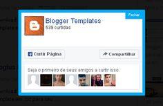 Como Colocar PopUp LikeBox do Facebook com Timer no Blogger<br/><br/>Você já deve ter percebido que, ao visitarmos alguns blogs, aparece uma popup divulgando uma página no Facebook, convidando seus leitore