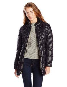 Via Spiga Women's Short Chevron Down Filled Packable Coat, Black, X-Small Via Spiga http://www.amazon.com/dp/B00LGOLI3C/ref=cm_sw_r_pi_dp_ztr8vb1P6J15Z