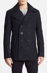 Burberry 'Eckford' Wool & Cashmere Peacoat