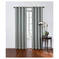 """Round & Round Thermawave Blackout Curtain Blue (52""""x108"""") Eclipse"""