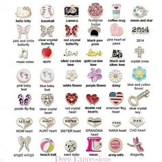 Choose any 5 charms for your living locket, memory locket, floating charm locket