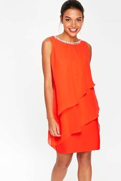 8531a137271 Petite Coral Ruffle Dress - Dresses