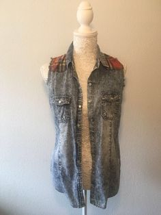 Gilet sans manches Primark Primark, Vest, Denim, Jackets, Fashion, Boutique Online Shopping, Sleeves, Down Jackets, Moda