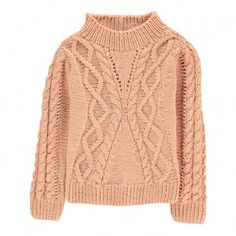 Isla High Neck Cable Knit Jumper Velveteen Children- A large selection of Fashion on Smallable, the Family Concept Store - More than 600 brands. Holiday Fashion, Kids Fashion, Pull Torsadé, Cable Knit Jumper, Winter Wardrobe, Dusty Pink, Pullover, Knitting, Sweaters