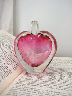 vintage heart perfume bottle