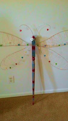 Dragonflies made from upcycled table legs