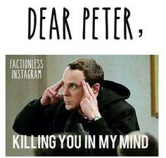Uh-huh. So if you wake up one morning and have a horrible headache, don't look at me, Peter. #divergent