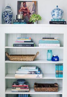 Organização de estante