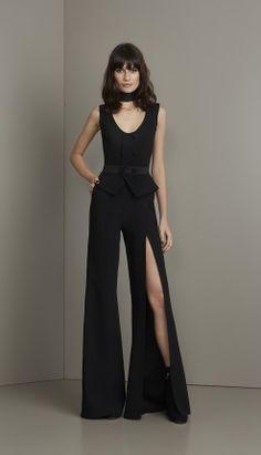MACACÃO CREPE FENDA  - MAC18360-03   Skazi, Moda feminina, roupa casual, vestidos, saias, mulher moderna