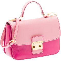 Miu Miu Shoulder Bag ($1,520) ❤ liked on Polyvore featuring bags, handbags, shoulder bags, purses, pink, bolsa, man bag, pink purse, pink handbags and red purse