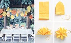 Super cute party or dinner decorations