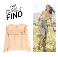 """The Daily Find: H&M Blouse"" by polyvore-editorial ❤ liked on Polyvore featuring H&M, vintage and DailyFind"