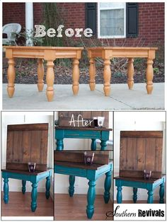 southern revivals - tons of amazing DIY furniture redos. also benefits of different spray paint brands. Tons of amazing DIY furniture redos. Also benefits of different spray paint brands. Refurbished Furniture, Repurposed Furniture, Painted Furniture, Antique Furniture, Modern Furniture, Distressed Furniture, Farmhouse Furniture, Refinished Table, Diy Teal Furniture