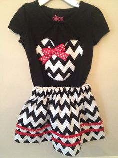 Modern Minnie Mouse Disney outfit on Etsy, $37.00