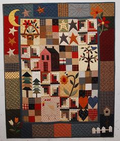 Simple Country Sampler Quilt Pattern by Rabbit Factory at KayeWood.com